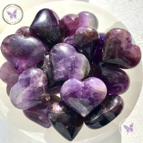 Amethyst Gemstone Crystal Heart 40mm